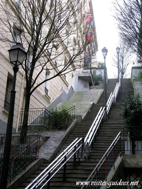 Montmartre Les escaliers de la Butte – Paris Autrement